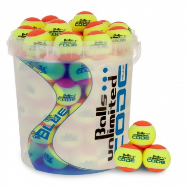 Balls Unlimited Code Blue Orange 60-Balls Bag + Ballbucket – Bild 1